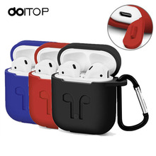 DOITOP For Apple Airpods Anti-Lost Sleeve Pouch Silicone Case Soft Cover Protector with Dust Plug for Air pods Earphone Nocouple(China)