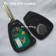 2 Button Remote Key Control For Chrysler Dodge JCUV Sebring PT Cruiser For Jeep Wrangler with ID46 CHIP 433MHZ(China)