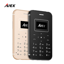 2017 Ultra Thin Card Mobile Phone AIEK/AEKU X8 Low Radiation Mini Pocket Students Personality Children Phone PK AIEK X6 M5 X7 M8