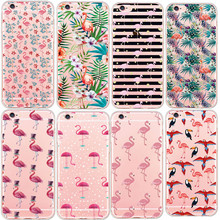 Decorative Love Couple Heart Crane Beautiful Flower Design Phone Case For iphone 5 5s se 6 6s 6s Plus TPU Clear Back Skin Shells