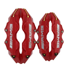 KUNBABY 4PCS/1Sets Car-Styling ABS Resin Universal Accessorie Car Auto Disc Brake Caliper Covers Front Rear RD For AMG LOGO