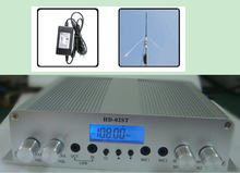 LCD Screen MP3 Player Adjustable Wide Frequency Range 88~108 Mhz FM Stereo Transmitter HD-02ST + Power supply + GP antenna