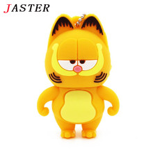 JASTER cute Garfield usb flash drive pendrive 4GB 8GB 16GB 32GB cartoon memory stick u disk usb 2.0 gift key chain