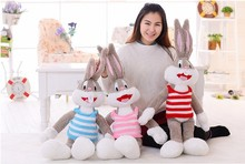 100cm Cartoon Selling Item Plush Bugs Bunny Stuffed Animal Rabbit Kawaii Doll Gifts for Kids and Girls