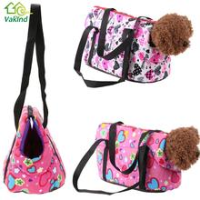 Floral Print Pet Dog Carriers Canvas Shoulder Bag for Small Dog Cats Pet Animal Outdoor Travel Carrier Dog Products(China)