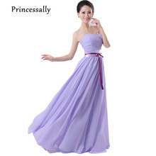 Lavender Bridesmaid Dresses Long Chiffon Formal Wedding Party Gown Modest Purple Bridesmaid Prom Dress Cheap Under 50 Vestidos