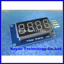 20pcs/lot 4 digital display with adjustable brightness LED module clock Point Accessories Blocks Integrated Circuits