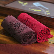 Ceramic wufu tea towel tea cloth waste-absorbing 100% thickening cotton kung fu tea table cloth