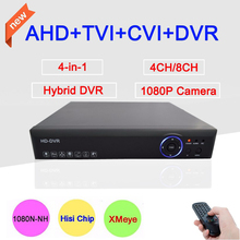 Blue-Ray XMeye App Metal Case  4/8 Channel 4CH/8CH  1080P/1080N/960P/720P 4 in 1 Hybrid CVI TVi AHD DVR Free shipping