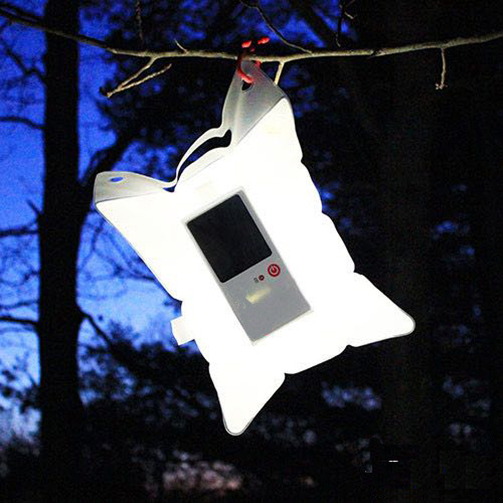 Waterproof Inflatable Solar Light Portable Solar Lamp Foldable PVC Bag LED Camping Emergency Light With1PCS Free Mini Flashlight(China)