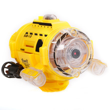 Infrared Control SpyCam Aqua RC Submarine with 0.3MP Camera and Light RC Toy for Kids Children(China)