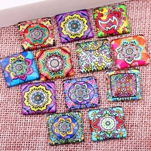 Buy onwear mixed mandala flower photo square glass cabochon 12mm 20mm 25mm diy handmade flatback jewelry making findings for $4.51 in AliExpress store