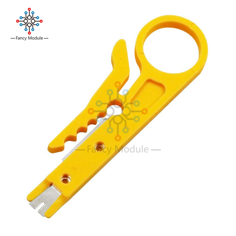 5Pcs Mini Wire Cutter Cutting Tool Stripper For Coaxial Cable RJ45 Yellow