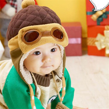 Cool Bonnet Baby Newborn Crochet Boy Hat Winter Toddlers Girl Infant Pilot Cap Warm Hat Winter Beanies Adjustable