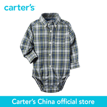 Carter's 1 pcs baby children kids Plaid Button-Front Bodysuit 225G606, sold by Carter's China official store
