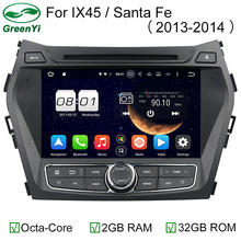 Octa Core Android 6.0 Car DVD GPS Player 1024*600 For HYUNDAI IX45 2013 SANTA FE Santafe Navigation Radio Head Unit 4G WIFI