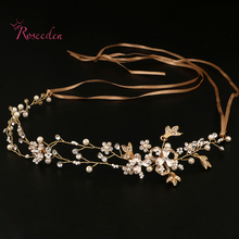 Handmade Bridal Hair Accessories New Tiara Head Piece crystal head piece Women Girls rhinestone pageant tiaras and crowns RE682(China)