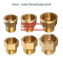 1/2 3/4 1 1.2 1.5 2 inch brass Female to male coupling brass coupler copper pipe joint connector meter tapping pipe joint connec