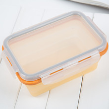 100% food grade Silicone collapsible food preservation box 350ml/500ml/680ml/900ml for choose