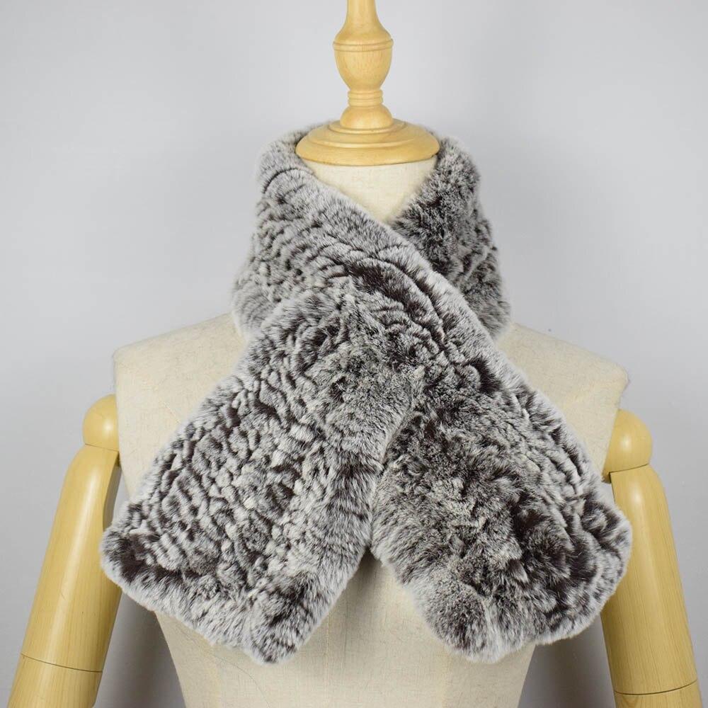 rex rabbit fur scarf short 4