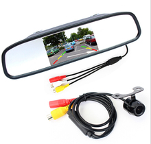 HD Video Auto Parking Monitor Butterfly Design CCD Car Rear View Camera With 4.3 inch Car Reverse Mirror Monitor