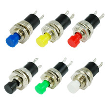 10pcs 5mm Momentary Push button Switch Press the reset switch Momentary On Off Push Button Micro Switch Normally Open NO Best