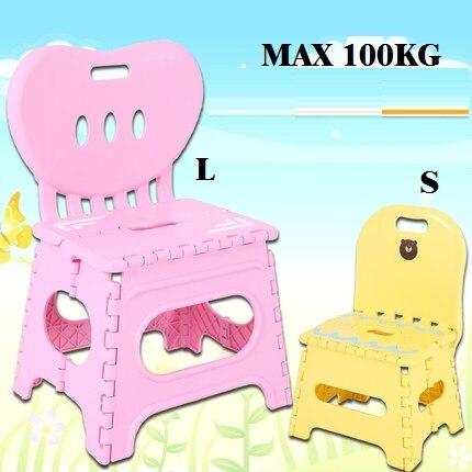 Утолщение бесплатной доставки, сворачивающее стул табурета L пластиковый портативный внутренний стул наружные творческие деревянные дети взрослого скамьи