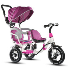 Twins Child Tricycle Baby  Bicycle Tricycle Baby Trolley Twin Child Bikes