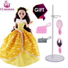 UCanaan Princess Dolls Beauty and the Beast Doll Fashion Toys Best Gift to Children Christmas 12 Joints body DIY doll accessorie