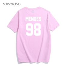 Black White Grey Pink Plus-Size-Fashion for Shawn Mendes 98 High Quality Letter Print Graphic Cotton t shirts women 2017 summer