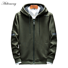 Hoodies Men Zipper 2018 Spring Casual Mens Hoodies Sweatshirts Cotton Thick Top Fashion Men Hooded Jackets Male Coat Polo Hoody(China)