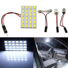 Buy 1SET T10 24 LED 5730 SMD Light Panel Board Pure White Car Auto Interior Reading Dome Map Interior BA9S Festoon Lamp Bulb DC12V for $1.25 in AliExpress store