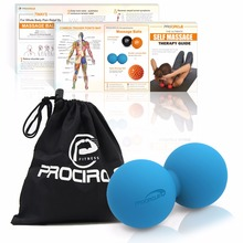 PROCIRCLE Double Lacrosse Ball Peanut Massage Ball For Thoracic Spine - Upper Back, Neck, Scapula(China)