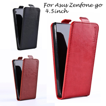 Luxury PU Leather Flip Cases For Asus Zenfone GO 2nd Gen ZB452KG ASUS_X014D ZB450KL 4.5 inch cases skin Magnetic Holster shell