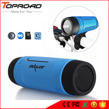 TOPROAD Waterproof Bluetooth Speaker 4000mA Phone Battery Power Bank LED TF FM Stereo Bass Wireless Portable Bicycle Speakers