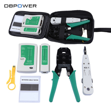 Network Ethernet Cable Tester RJ45 Kit RJ45 Crimper Crimping Tool Punch Down RJ11 Cat5 Cat6 Wire Line Detector(China)