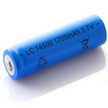 10 PCS/LOT super fire AA 14500 1200mah 3.7 V lithium ion rechargeable batteries and LED flashlight, free delivery