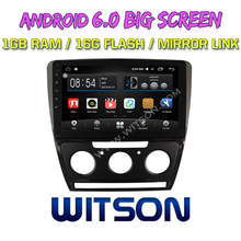 WITSON 10.2 inch BIG SCREEN Android 6.0 CAR GPS for VW SKODA OCTAVIA SETERO GPS RADIO Quad core 1GB RAM+DVR/WIFI+DSP+OBD+DAB+3G(China)
