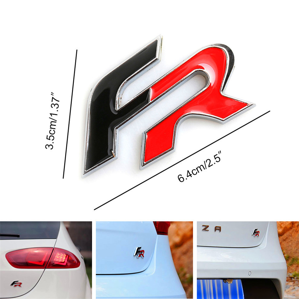 3D Metal Car Stickers For FR Emblem Badge Stickers Car Styling Stickers For Seat leon FR Cupra Ibiza Altea Exeo Formul Stcikers (7)
