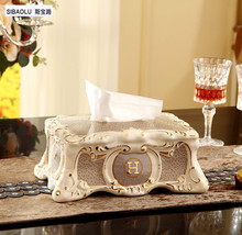 "10"" Luxury Ceramic table removable tissue boxes Tissue holder Napkin Paper box Home decoration Wedding gifts"
