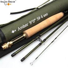3/4/5/8 WT Fly Rod Fast Action 36T Carbon Fiber /Graphite IM10 7.5/8.3/ 9FT Fly Fishing Rod with Cordura Tube(China)