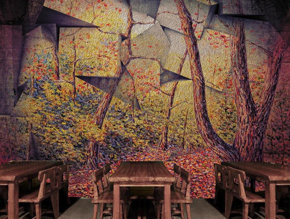 Retro 3D Photo Wallpaper stone Wall forest Wall Papers Home Interior Decor Living Room Stereo large backdrop 3D Mural <br>