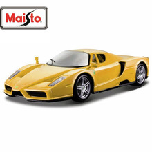 Maisto Bburago 1:24 ENZO Yellow Diecast Model Car Toy New In Box Free Shipping