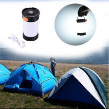 LED Camping Light Multifunctional Waterproof Tent Lamp With Compass 400LM Outdoor Lighting 2017 Newest Rechargeable Lantern