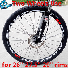 Wholesale 16 pics For 26er/27.5er/29er Rims Mtb Wheelset Protector MTB Bicycle Sticker Cycling Carbon Wheelset(China)