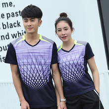 Free Printing Badminton t shirt Men/Women's , sports badminton clothes ,Table Tennis shirts , Tennis wear t shirt AY101