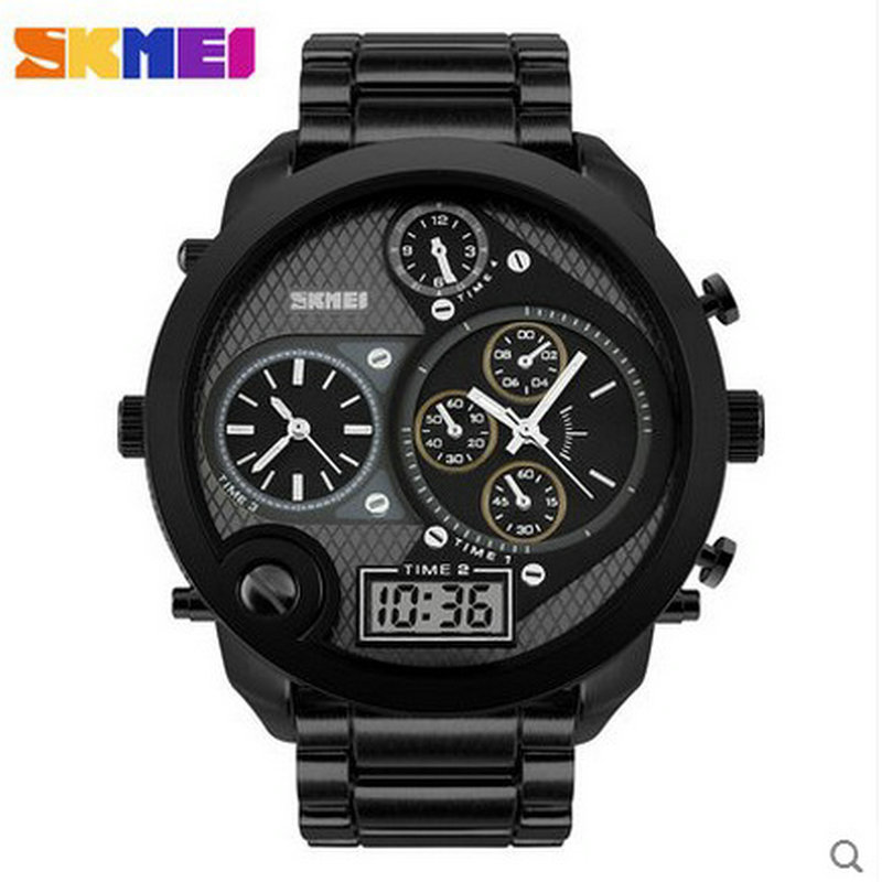 metal material multi time zone round watch for men Berserk creative Quartz Fashion Stainless Full Relojes Casual Wristwatches<br><br>Aliexpress