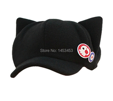 EVA super adorable cat ear cap badge cartoon Hat Cap
