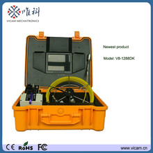 20m cable reel 29mm self level image waterproof  push rod sewer inspection camera with DVR recording and keyboard