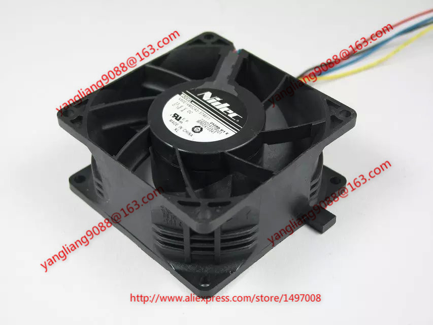 Nidec V80E14MS2A3-57A611 DC 13.6V 0.16A 5-wire 80x80x38mm Server Square fan<br>